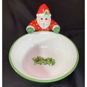 Christopher Radko Christmas Santa Candy Dish